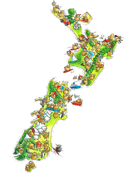 New Zealand Tourist Map North Island.New Zealand Camping Guide