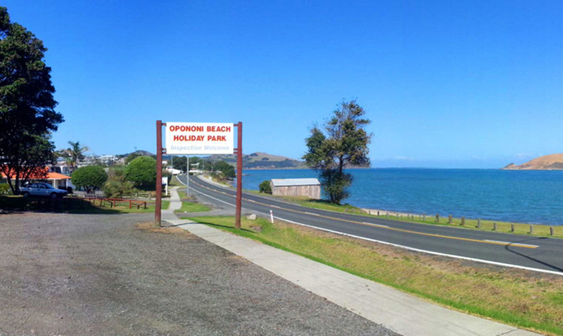 Opononi Beach Holiday Park.